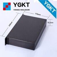 256*70.2-N mm (WHL) caja de suministro de Fábrica caliente extrusión disipadores de aluminio vivienda con cubierta personalizada placa/caja de instrumentos eléctricos
