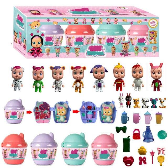NOVO Bebê Chorar LOL Bebê Da Menina do menino Crianças Brinquedos boneca Bonecas bola Surpresa Ele vai derramar lágrimas presente de Aniversário para crianças T9