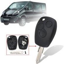 3 Botões de Bloqueio Tronco Aberto NE-73 Remoto Chave Fob Caso Shell com Uncut Lâmina Para Nissan Primastar