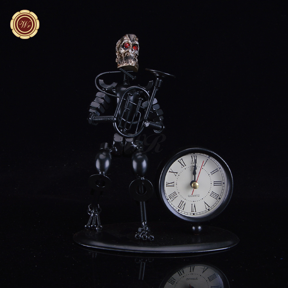 WR Metal Clock Iron Musician Craft Fashion Clock Models Creative Home Office Decorations Business Gifts