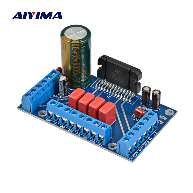 Special Offers AIYIMA Amplifiers Audio Board TDA7388 Four Channel 4x41W Amplificador Audio Power Amplifier Board DC 12V BTL PC Car Amp