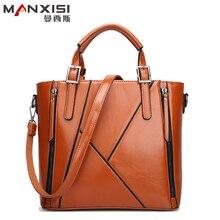 MANXISI Marke Frauen Tasche 2016 Europäischen Und Amerikanischen Braun Leder Tasche Frauen Handtaschen Marke Schulter Frauen Messenger Bags