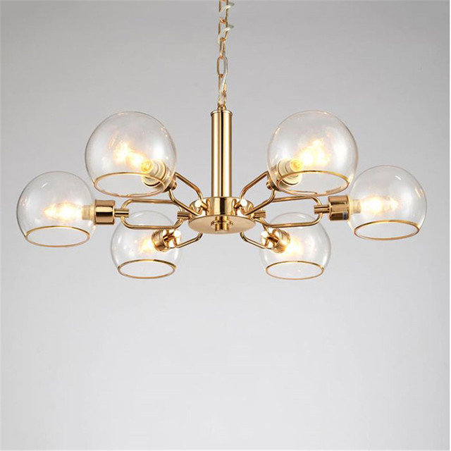 2017 new scandinavian glass living room chandelier modern black 2017 new scandinavian glass living room chandelier modern black white gold metal clear glass shades lustre mozeypictures Image collections
