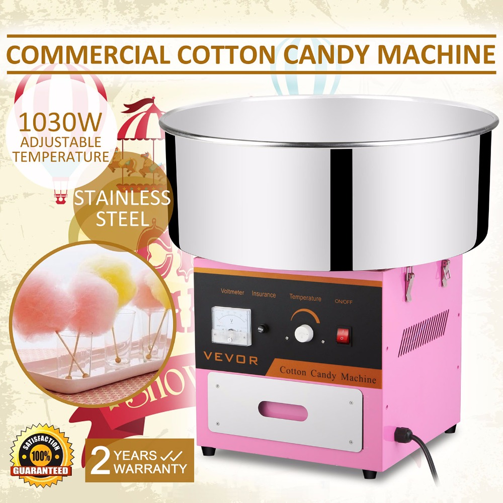 Commercial Use Pink Electric Candy Cotton Machine Floss Candyfloss Maker stainless Steel Bowl   Сахарная вата