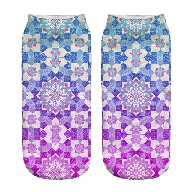 Women's Mandala Print Socks 5