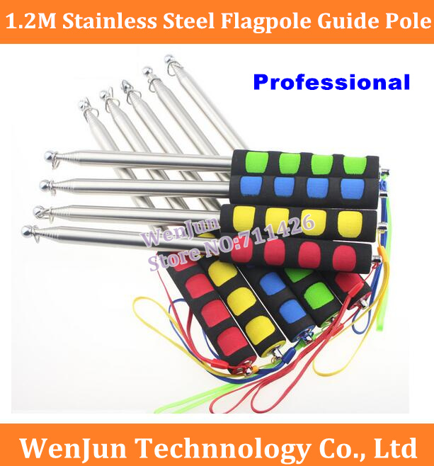 High Quality 1.2 Meters High-End Stainless Steel Flagpole Guide Pole1.2M Luxury  Tour Guide Flagpole,pointer Teaching Rods