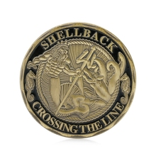Coin U.S. Gift Commemorative Sailor Navy Meaningful The-Line Gold-Plated Shellback Crossing