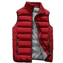 Осень-зима пальто без рукавов Для мужчин жилет мужской моды Марка Повседневное тонкий жилет пальто Для Мужчин's Водонепроницаемый куртка плюс Размеры 5XL Homme