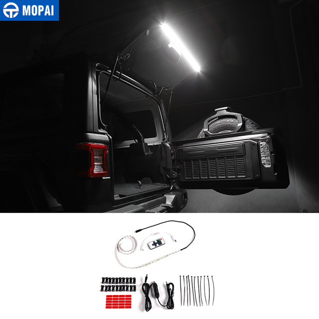 Mopai Car Tailgate Glass Lift Door Light Led Lamp for Jeep Wrangler TJ JK JL 1997-2019 Rear Tail Trunk Light Car Accessories