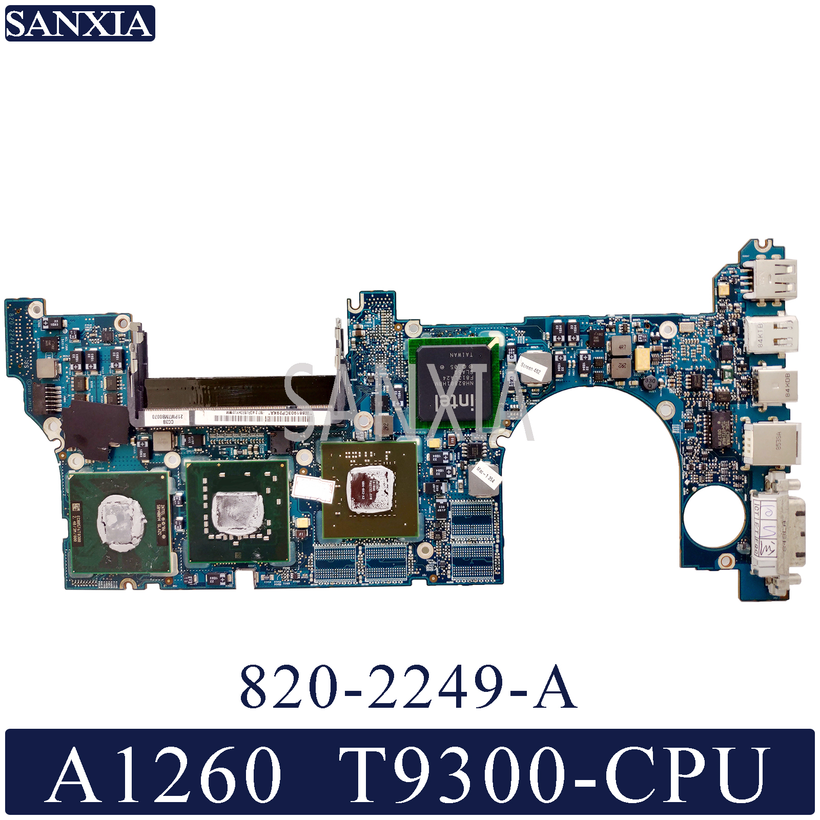 KEFU 820-2249-A Laptop motherboard for Apple MacBook Pro A1260 original mainboard <font><b>T9300</b></font> image