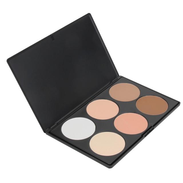 Многофункциональный 6 цвет свечения бронзатор Контур Палитра основа для макияжа лица Пудра или может быть использован как глаз тени