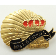 High quality custom military badges premium electroplated gold