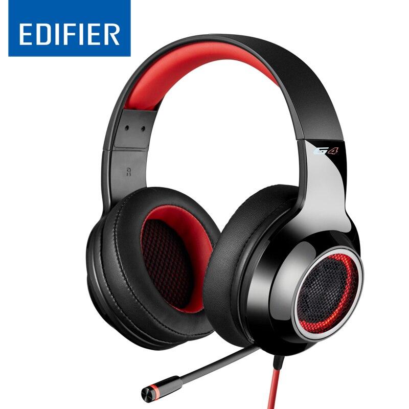EDIFIER G4 Professionelle USB Gaming Headset Hohe Qualität Mit 7,1 Virtual Surround Sound Super Bass Hifi Stereo Musik Stirnband