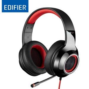 Image 1 - EDIFIER G4 profesjonalne USB gamingowy zestaw słuchawkowy wysokiej jakości 7.1 wirtualny 360 ° dźwięku przestrzennego Super bas radio Hifi muzyczna opaska