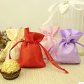 "Silk Stain Gift Bag 7x9cm(2.75""x 3.5"") Various Color Fashion Jewelry Drawstring Pouch Wedding Favor Holder"