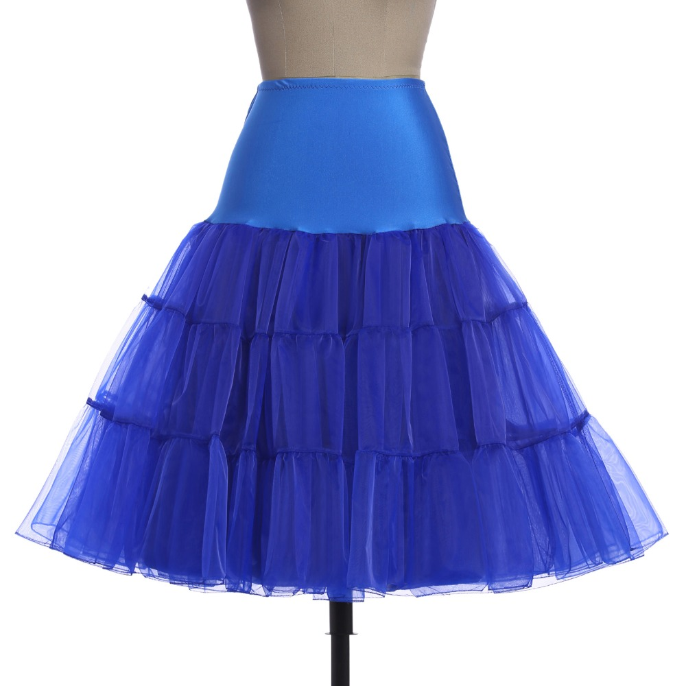 bfaae9fef685 US $19.0 |Vintage Petticoats Short Ruffled Retro Crinoline Underskirt  Pettiskirt Swing Pin Up Rockabilly Petticoat Slips Skirt Adult Tutu-in ...