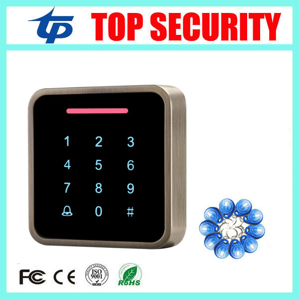 New arrival smart RFID card access controller standalone door access control system surface waterproof proximity card reader 125khz smart card access control door reader metal house waterproof surface rfid card access controller standalone single access