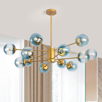 LOFT Modern Gold Lustre chandeliers 6 16 Arms Retro Adjustable Edison Bulb Lamp E27 Art Spider Ceiling luminaire Fixture