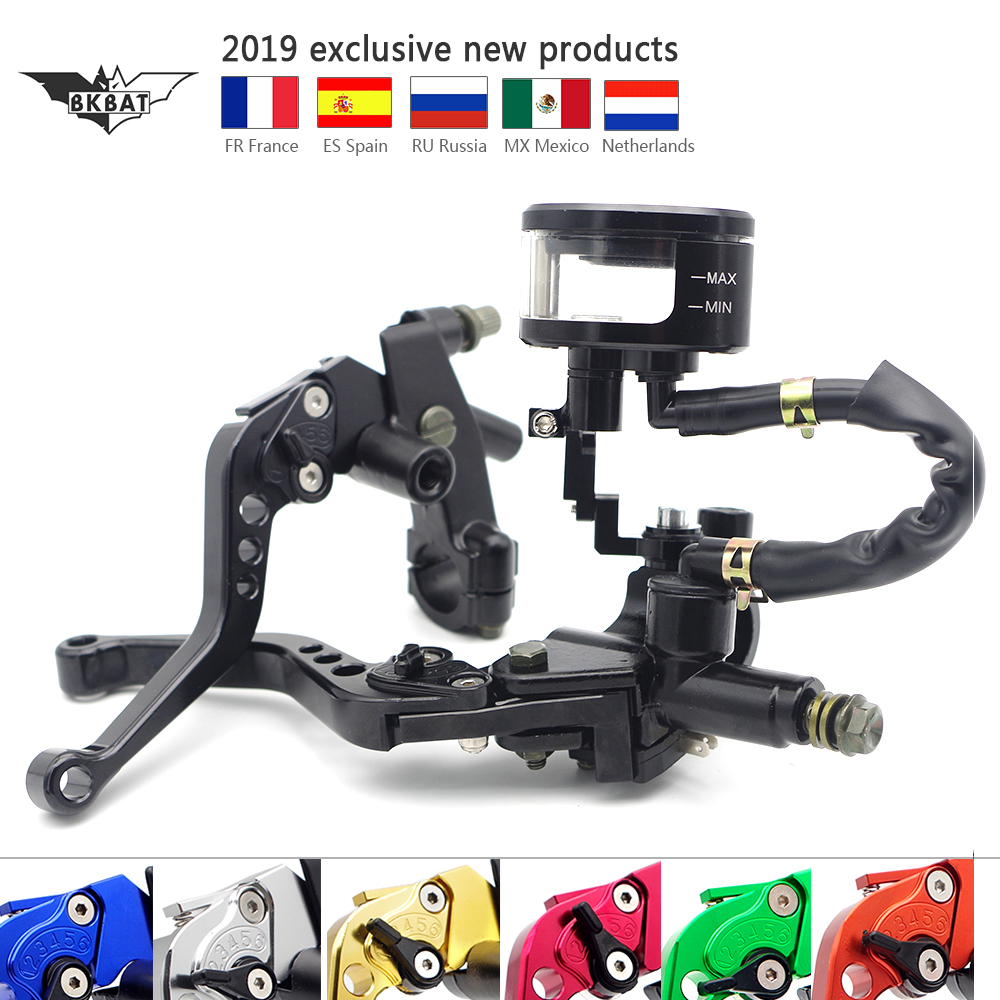 Motorcycle Brake Clutch Levers Brake Fluid Cup 22mm CNC For suzuki boulevard c50 kawasaki vulcan yamaha xt660 honda hornet 600