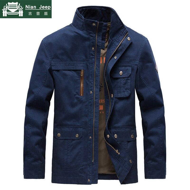 Мужская куртка высокого качества в стиле милитари, брендовые хлопковые весенние армейские куртки и пальто с несколькими карманами, мужская куртка, размер M 3XL|Куртки|   | АлиЭкспресс
