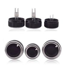 цена на 3pcs Aluminum Alloy car air conditioning knobs For Nissan TIIDA NV200 LIVINA 04-10 Sylphy 2012 AC Knob Heat Control Switch Knob