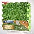 Meitoku Мягкая EVA Пены головоломки ползать коврик/9 шт. блокировки коврик, Зеленый газон Тренировочный мат, водонепроницаемый коврик для детей, Each30X30cm
