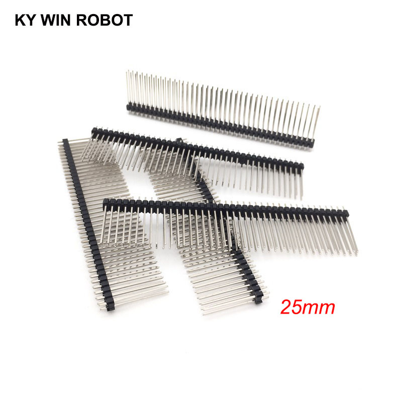 10pcs Single Row Male 1*40 40pin 2.54mm 1x40 19mm Height Long Breakable Pin Header Connectors