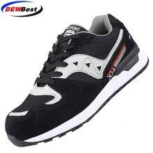 DEWBEST Мужская защитная обувь со стальным носком, защитная обувь; легкая 3D Противоударная Рабочая обувь для мужчин