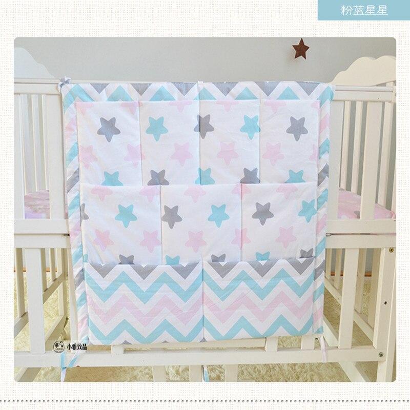 Marke Windeln organizer baby bett hängen tasche tragbare lagerung bettwäsche set 63*48 cm multy stil wasserdichte zubehör