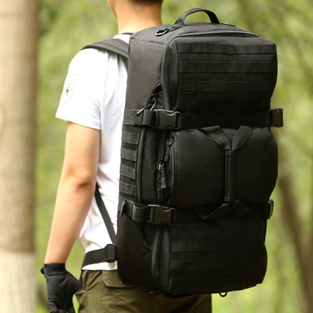 60L Dual Use Backpack Outdoor Men Women Sports Bag Military Tactical Bags Hiking Camping Waterproof Wear-resisting Nylon Bag 60l outdoor camping men s military tactical backpack 1000d nylon for cycling hiking sports climbing bag