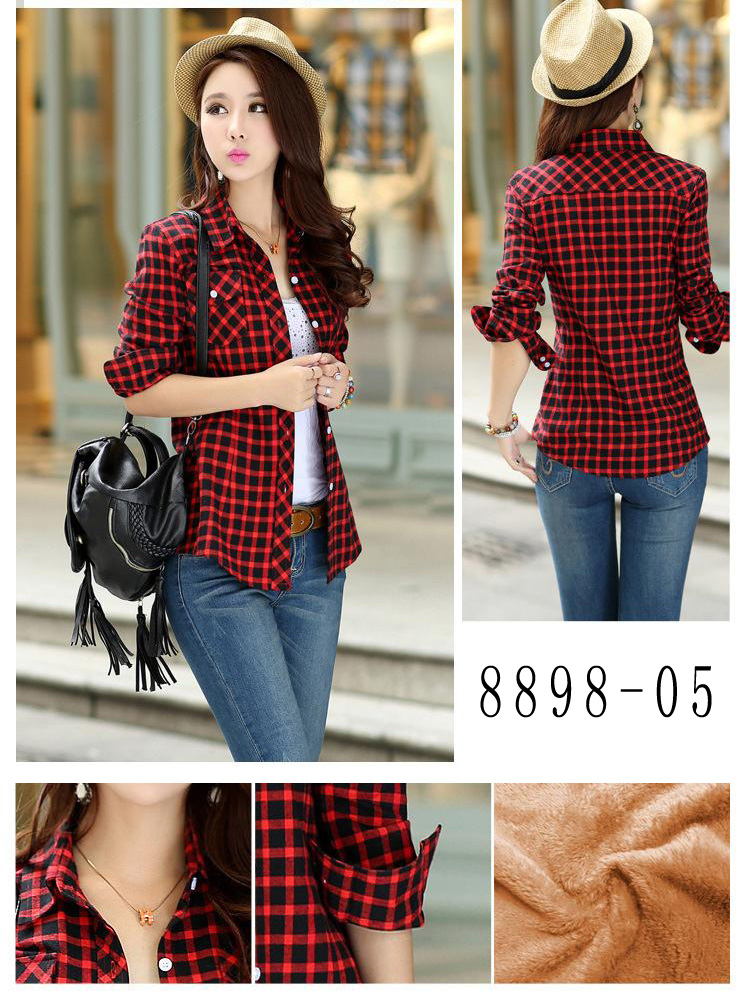 HTB1tHRRRVXXXXceXXXXq6xXFXXXs - Velvet Thick Warm Women's Plaid Shirt Female Long Sleeve