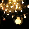 5M 40Heads Led Ball String Light 5 Emitting Colors Fairy Light for Christmas/Garden Decor 1.8CM Ball Lamp Power by 3*AA Battery