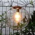 Modern Minimalista Limpar Bola De Vidro Luz Pingente luminária para casa deco Arte Personalizado Cromo Chandlier Lâmpada