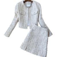 Autumn and winter fashion suit women's ladies woolen coat skirt suit women'