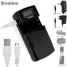 Soshine M20 универсальный быстро литий-ионный Батарея Зарядное устройство ЖК-дисплей Дисплей для 3.7 В 7.4 В литиевых Перезаряжаемые Батарея ЕС/ США Plug