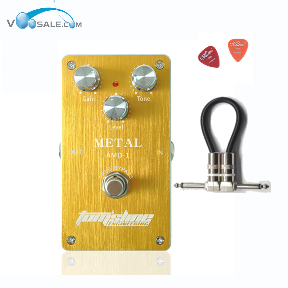 Aroma AMD-1 Housing Metal Distortion Guitar Effect Pedal True Bypass Aluminum Alloy Pedals + Free Cable nux metal core distortion stomp boxes electric guitar bass dsp effect pedal 2 metal hardcore sound true bypass