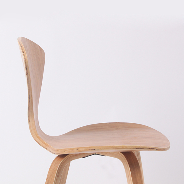 CH177 Wholesale Natural Side Chair Walnut Or Ash Wooden Norman Cherner Chair  Plywood Chairs Red Black White Dining Chair  In Dining Chairs From Furniture  On ...