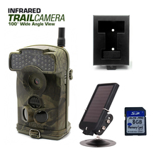 Free Shipping!Ltl Acorn 6310WMG MMS GPRS Trail Game Hunting Camera+Free 8G SD Card+7V Solar Panel+Metal Box