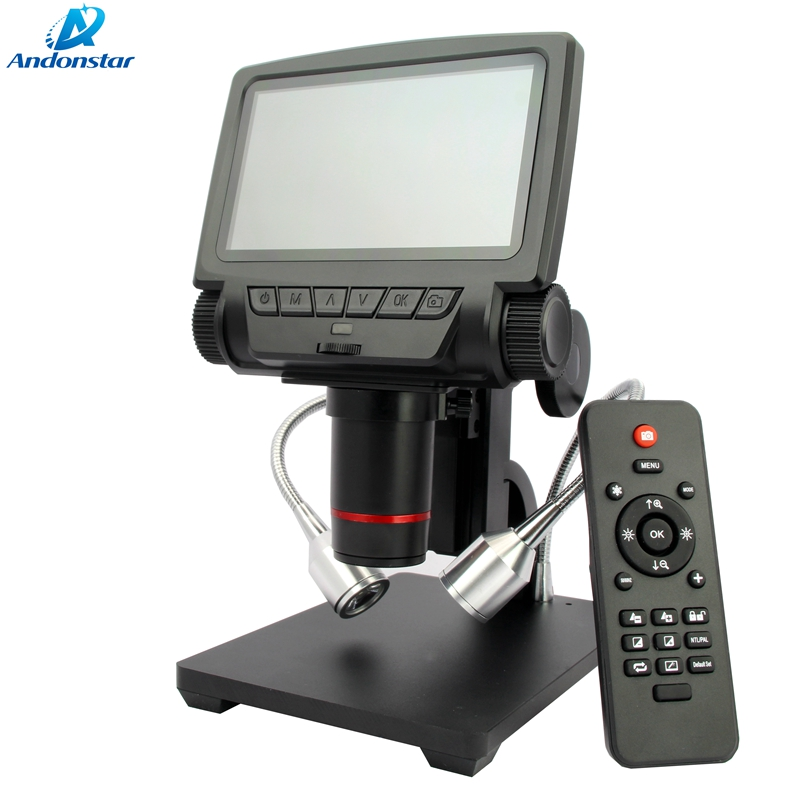 5 pouce LCD Numérique HDMI/AV Microscope Portable HD USB Endoscope Microscope pour Mobile Téléphone Réparation De PCB À Souder Vidéo loupe