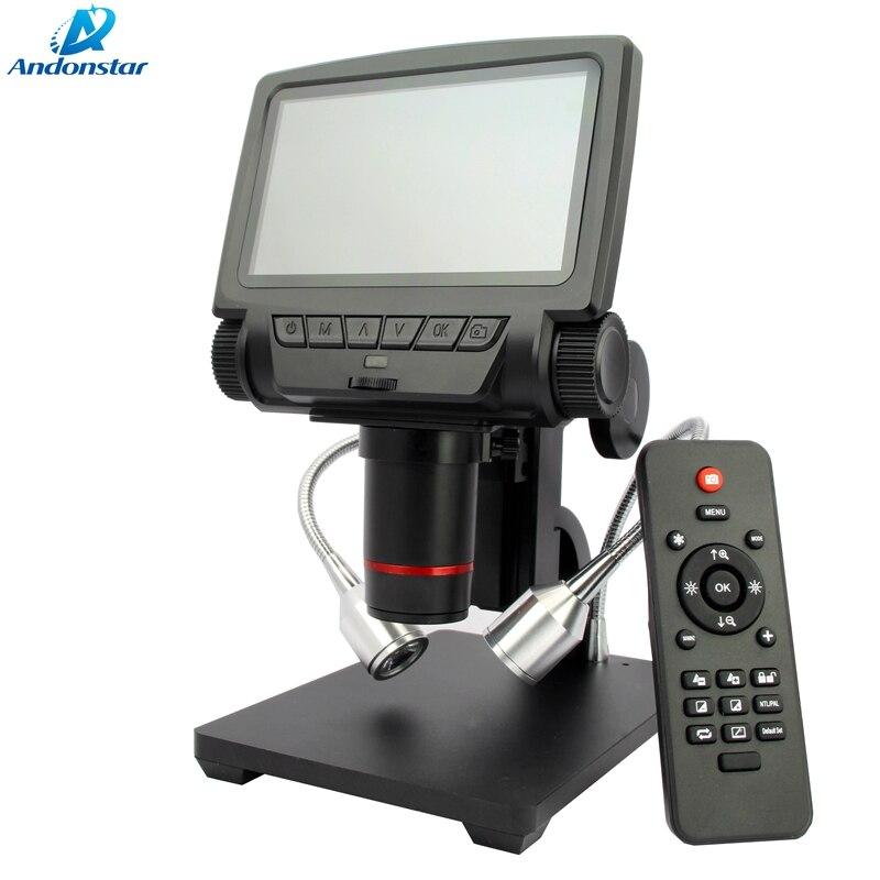 Microscope portatif d'endoscope d'usb de HD de Microscope de HDMI/AV d'affichage à cristaux liquides de 5 pouces pour la loupe vidéo de soudure de réparation de carte PCB de téléphone Portable