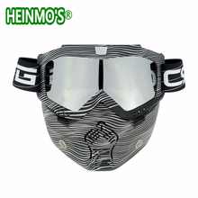 New Vintage Helmets Detachable Goggles And Mouth Filter Perf