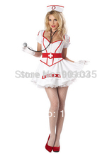 FREE SHIPPING Ladies Halloween Zombie Bloody Nurse Costume Fancy Dress Party Outfits