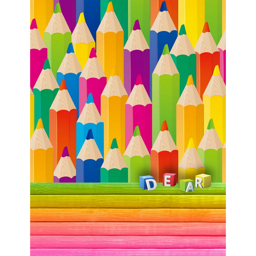 Colorful crayons photo backgrounds fabric photophone photography backdrops for kids photo studio props camera fotografia