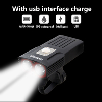 VastFire Waterproof Rechargeable Bike Light Set Powerful Lumens 2 LED Lamp Beads USB Bicycle Light Lamp