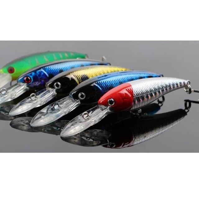 トップグレードフローティングミノー釣り餌ルアーキットペスカ 5 個色 90mm8g Sirajiong 日本フックワブラーマイティ咬傷 2015 新しい