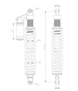 Image 2 - 2 หน่วยโช๊คอัพ AIR DAMPING สำหรับ CF 600UTV/CFZ6EX/ZFORCE 625EX 4060 051500 10000