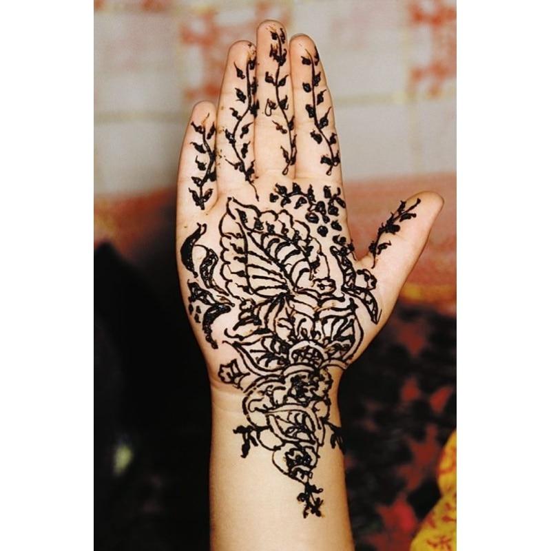 Mehndi Black Henna Tattoo Paste Cone Temporary Flash Tattoo Body Art Henna Tatoo cream A6 3