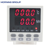 WSK302 Frame Size 72 72mm LED Digital Display Temperature And Humidity Controller With RS485 Communication