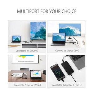 Image 4 - Thunderbolt 3 Typ C Hub zu HDMI Adapter USB C zu HDMI VGA USB 3.0 USB C Lade Konverter für Monitor macbook Projektor