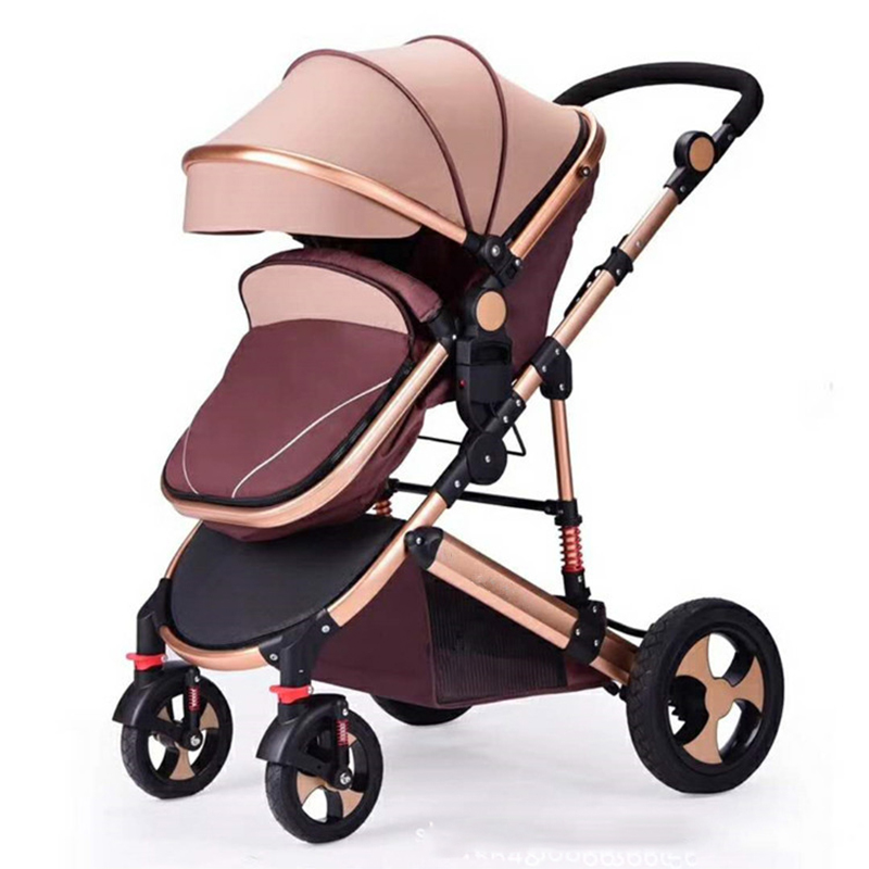 2018 New High landscape newborn baby stroller can sit high-end two-way shock absorber baby four-wheeled cart